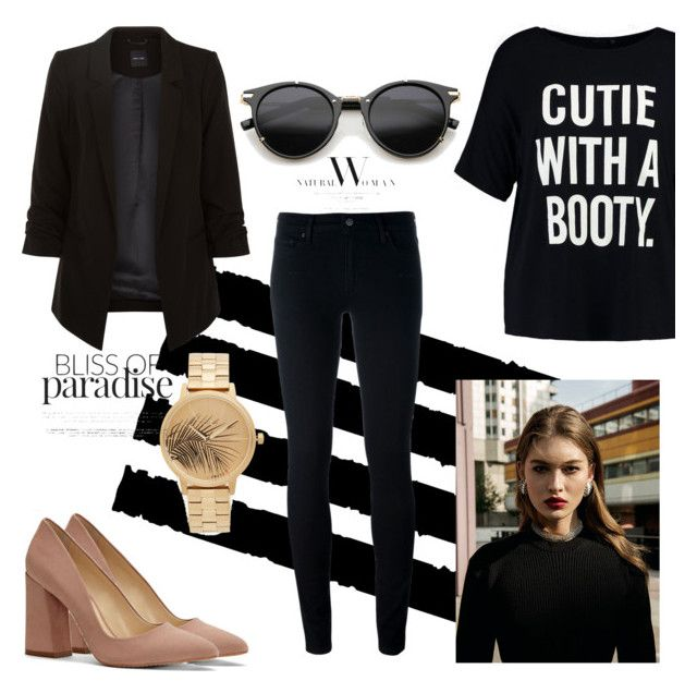 Untitled #127 by ioannagesouli on Polyvore featuring polyvore fashion style Boohoo Levi's Vince Camuto Nixon ZeroUV Tim Holtz clothing