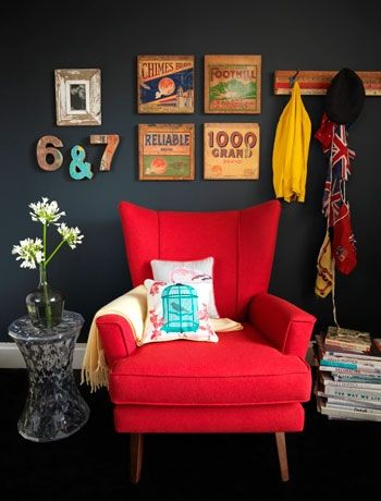 Creating a living room feature wall - wanna try this in our bedroom :)