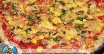 Вкусная пицца на тонком тесте с помидорами в домашних условиях