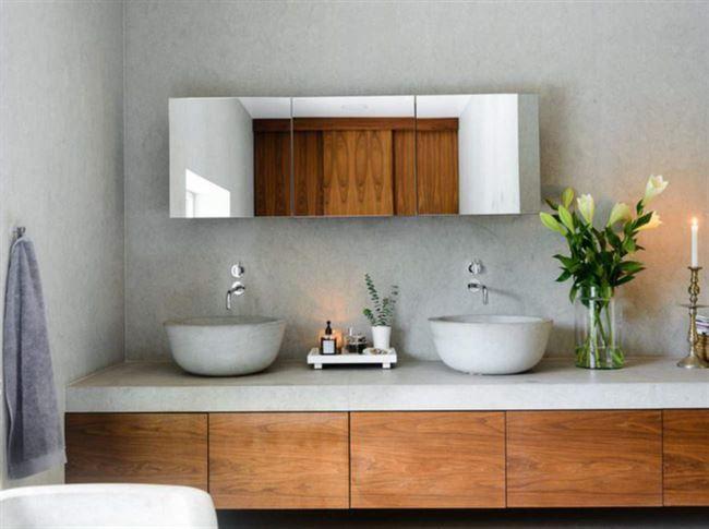 Ett av badrummen.
