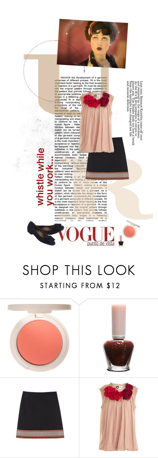 """""""Five O'Clock Whistle"""" by blanche-neige ❤ liked on Polyvore featuring Paul & Joe, Missoni, Lanvin, Peter Kaiser, barney's, floral applique, missoni for target, peter kaiser pumps, missoni skirts and missoni"""