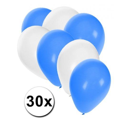 Israelische ballonnen pakket 30x  30x ballonnen in de kleuren van Israel: wit en blauw. Van elke kleur een zakje van 15 ballonnen leuk voor Israele thema feesten.  Dit artikel bestaat uit: 1x Witte ballonnen 15 stuks 1x Blauwe ballonnen 15 stuks  EUR 2.99  Meer informatie