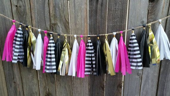 Check out this item in my Etsy shop https://www.etsy.com/listing/288326657/kate-spade-tassel-garland-kate-spade