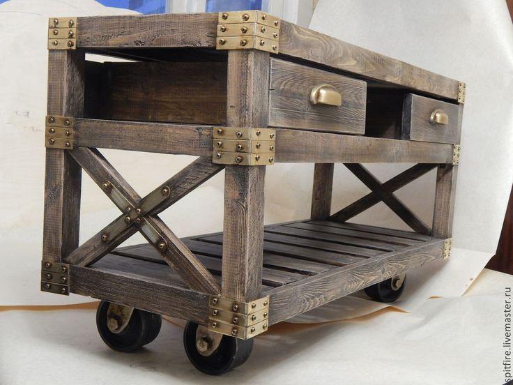 журнальный столик в стиле лофт - бежевый,лофт,стол,журнальный столик,кофейный столик
