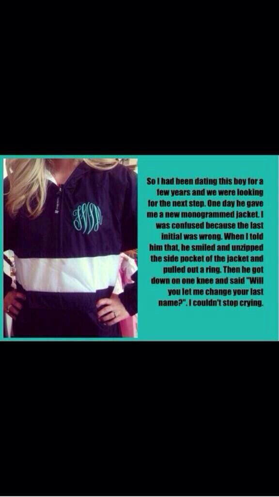 Take notes future husband.... Cutest proposal ever. Even though I already have this exact jacket....