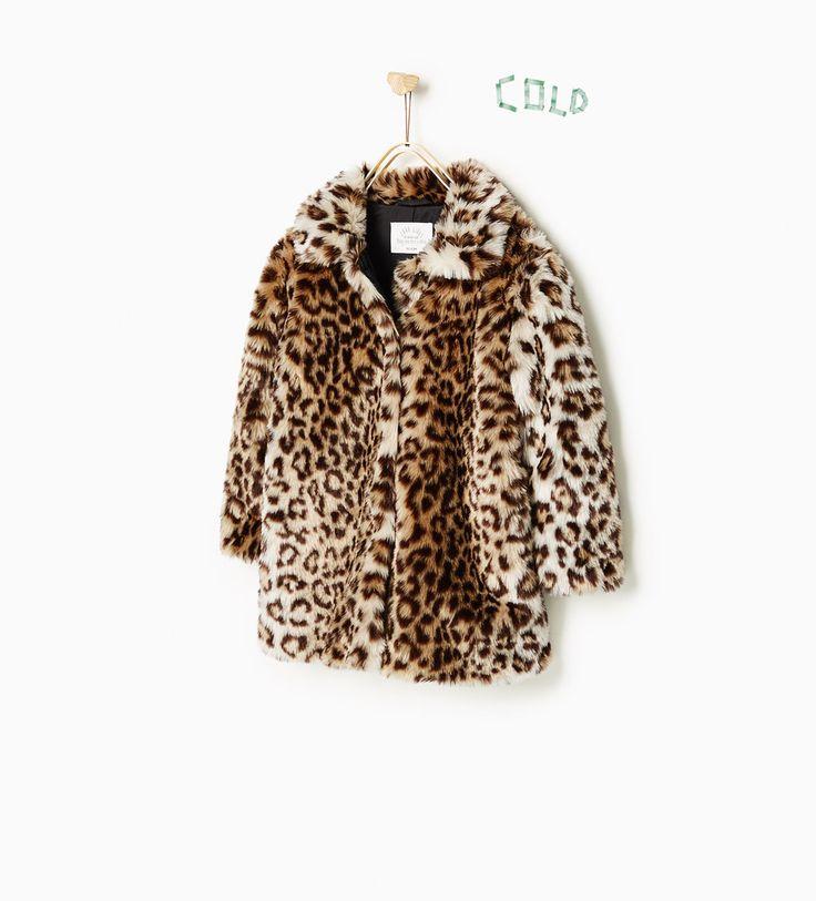 Zara three quarter length faux fur coat