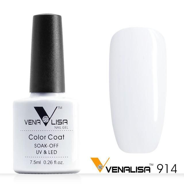 Free Shipping Nail Art Design Manicure Venalisa CANNI 60 Color 7.5Ml Soak Off Enamel Gel Polish LED UV Gel Nail Polishes Lacquer