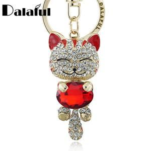Lisipieces-Lucky Smile Cat Crystal Rhinestone Key Chains
