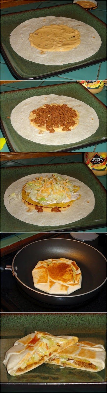 Homemade Taco Bell Crunchwrap. Make your own today at with with this copycat recipe from CopyKat.com.