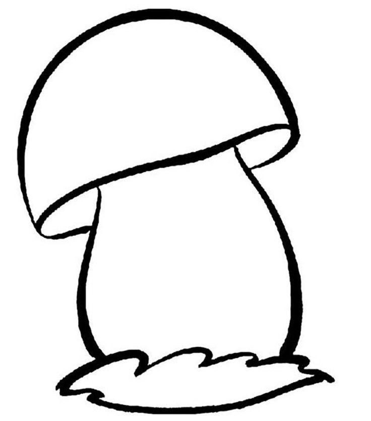 Грибочек картинка черно белая