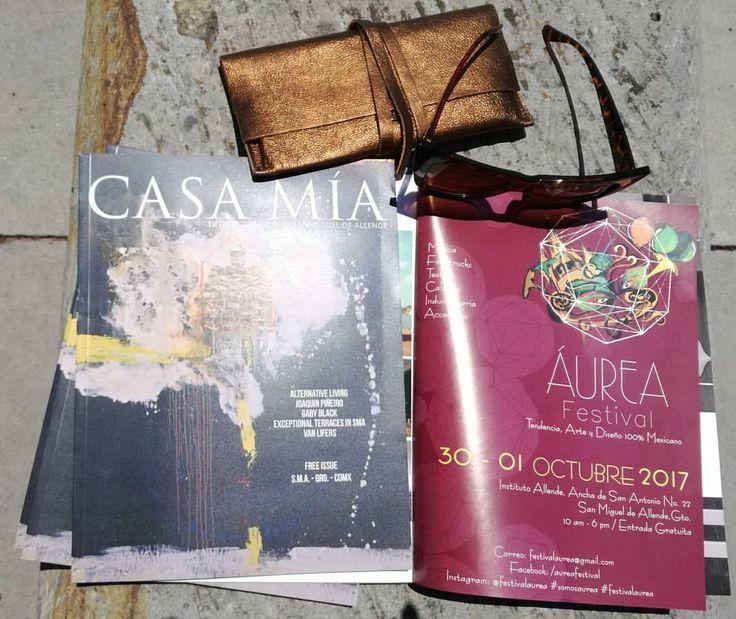 Recibiendo la revista Casa Mía ya aparecemos en la.edición Agosoto _Septiembre 2017 buscalá en los hoteles y.boutiques más exclusivas de San Miguel de Allende , Querétaro y Ciudad de México! No falten y adquieran los.productos mexicanos más auténticos del momento este 30 de Septiembre y 1 de Octubre 2017. #revistacasamia #somosaurea #festivalaurea #trendy #estilomexicano #hechoamano #emprendedores #entradalibre #petfriendly #sanmigueldeallende #México #Querétaro #cdmx