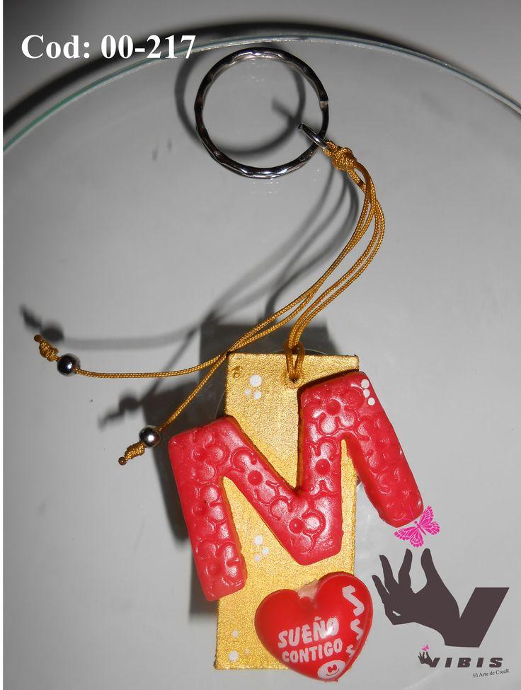 lindo llavero letra M