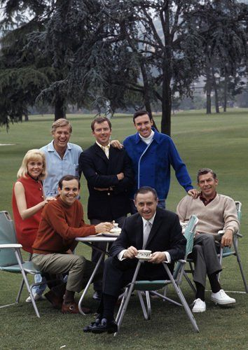 Richard O. Linke with Ronnie Schell, Jerry Van Dyke, Ken Berry, Jim Nabors and Andy Griffith