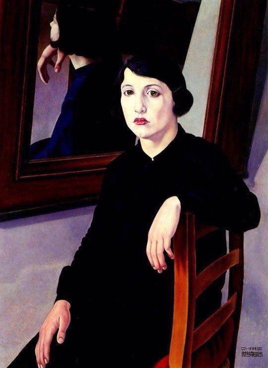 Cagnaccio di San Pietro (1897-1946 Italian) 'The girl and the Mirror' 1932