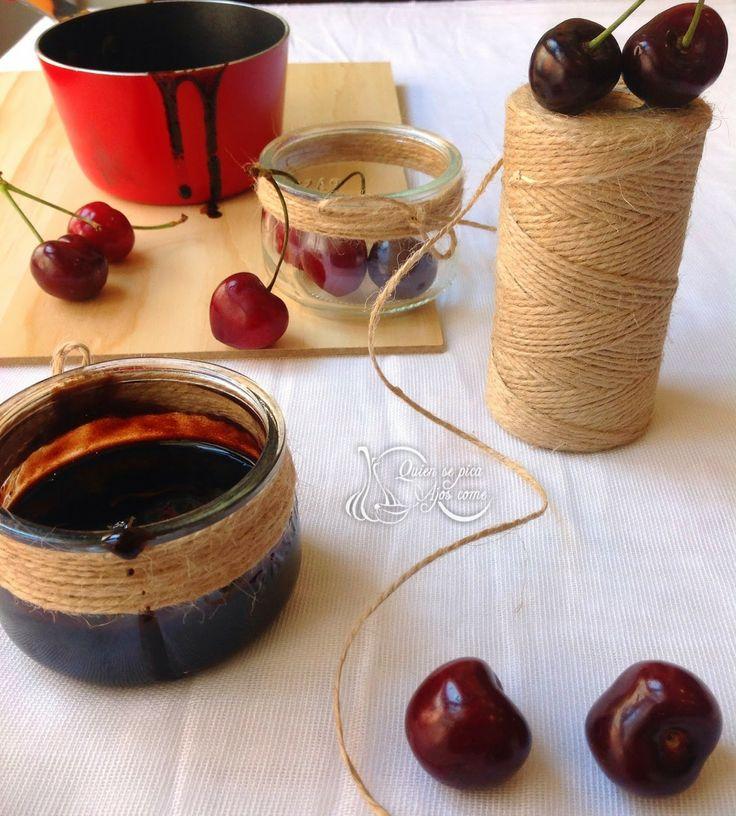 Quien Se Pica Ajos Come : Reducción Balsámica De Cerezas