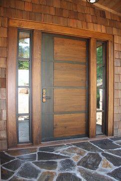 porta com ferro e madeira