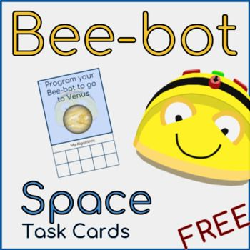 Colourful and clear task cards for use with a Bee-bot. Perfect for storytelling, Language development and or Algorithm work. These FREE Task cards were designed to be used with our Space Vocabulary and Mat, but can be used with other Mats as well.You can find the Mat here: Bee-bot Space Mat - Vocabulary and MatWho is it for?All Bee-bot users and those looking to create an independent Bee-bot station.What's included?9 Task Cards (All Planets + Pluto) Have a look at my complete Bee-bot Guide…