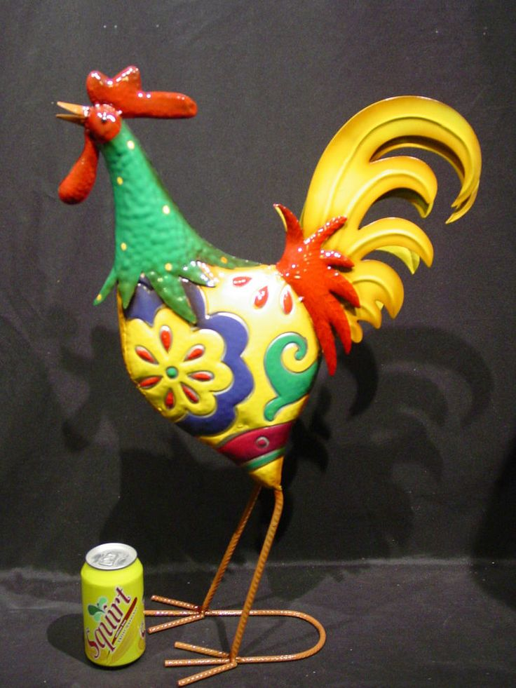 Tall Garden Art Metal Rooster - available on e-Bay