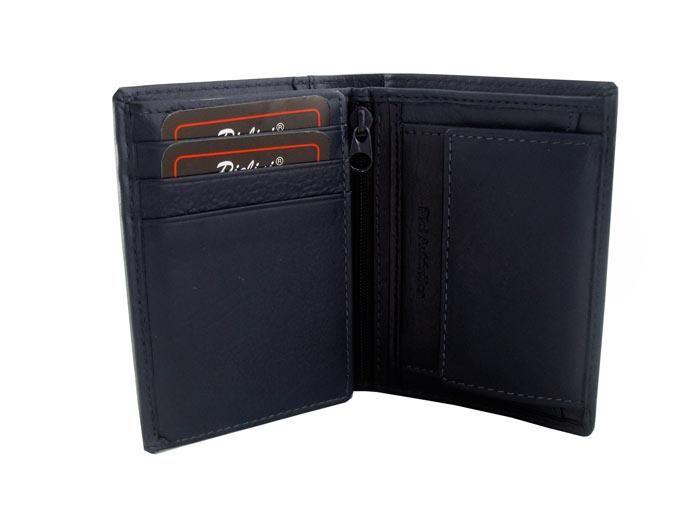 Mini cartera de piel azul