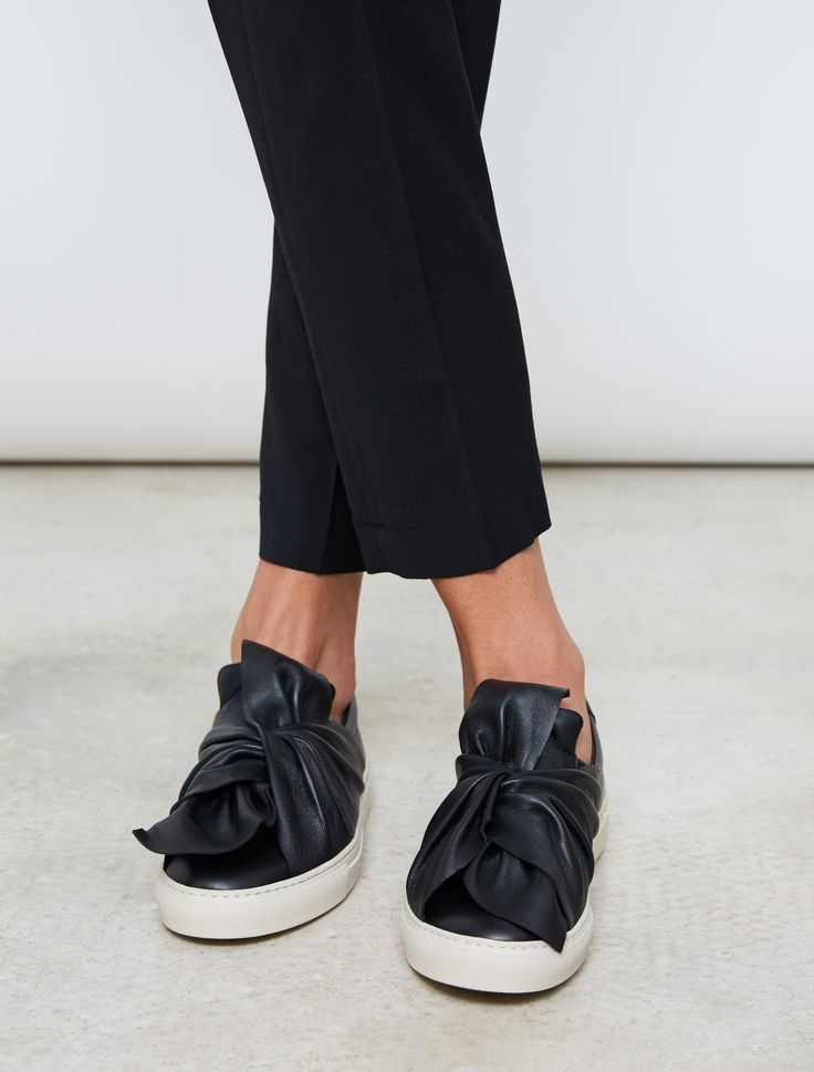 stylish footwear: Ports 1961 Bow Sneakers Black WOMEN'S ACCESSORIES http://amzn.to/2kZf4gO