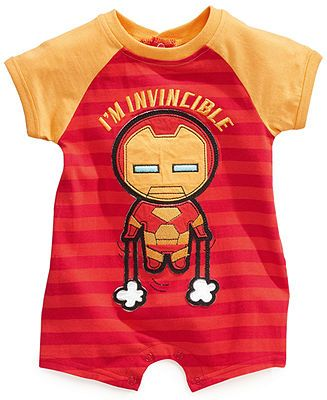 Baby Boys Marvel Rompers! Need one for every member of the Avengers, even spider man!