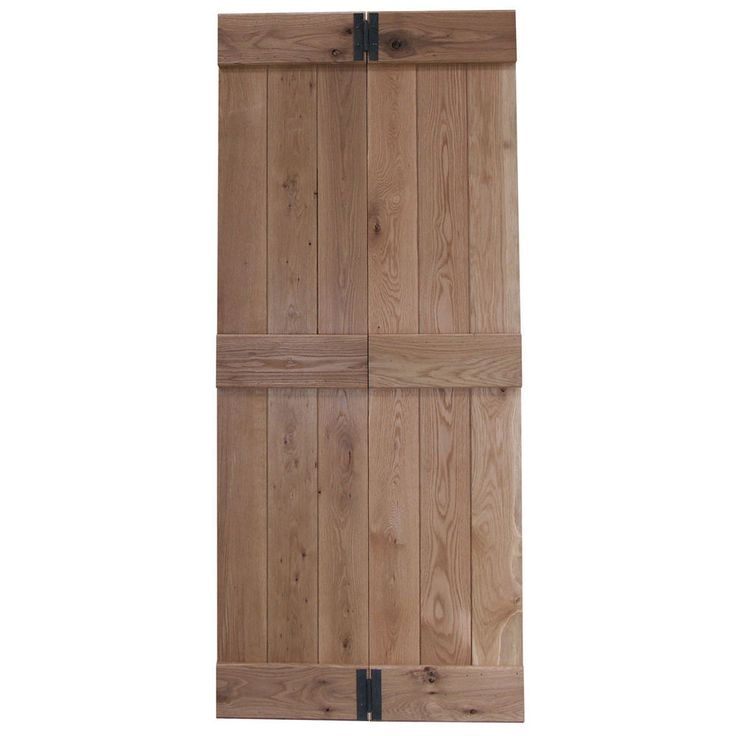 Willow Bi Fold Ledged Solid Oak Internal Door Available in Prime or Rustic Oak