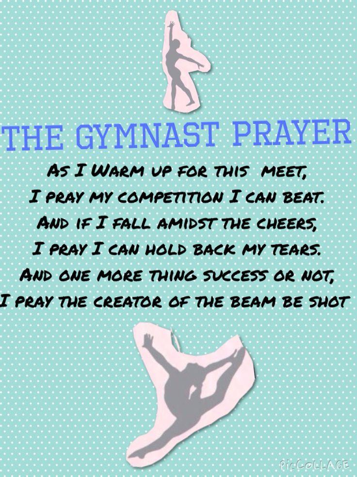 The gymnast prayer