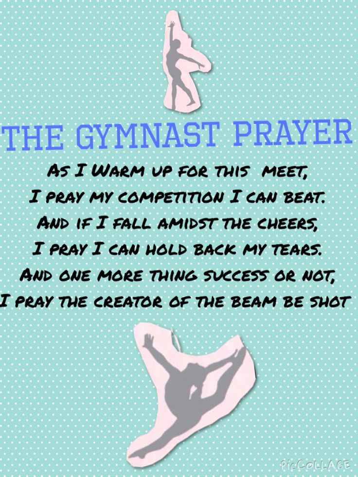 The gymnast prayer