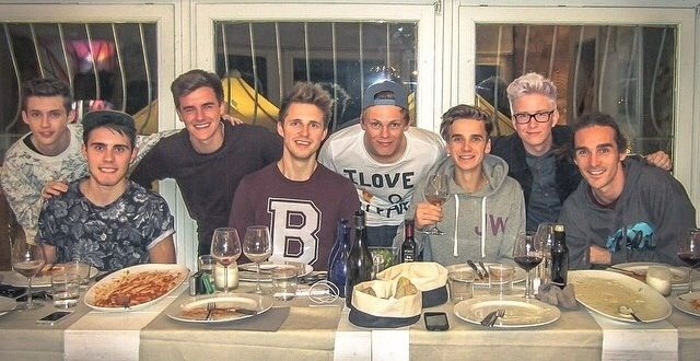 Troye Sivan, Alfie Deyes, Connor Franta, Marcus Butler, Caspar Lee, Joe Sugg, Tyler Oakley, and Louis Cole