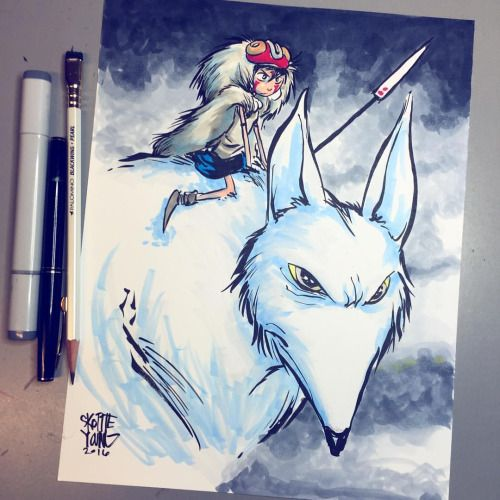 Princess Mononoke. Original available...