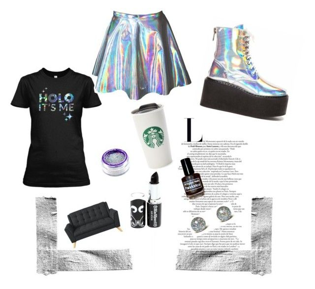 """""""Holo it'me"""" by cirlogea-ana ❤ liked on Polyvore featuring Hot Topic"""