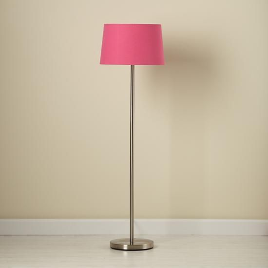 Awesome Light Years Hot Pink Floor Shade And Nickel Base | The Land Of Nod