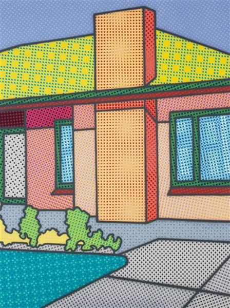 Actual Fractual by Howard Arkley, 1994, synthetic polymer paint on canvas | Gould Galleries