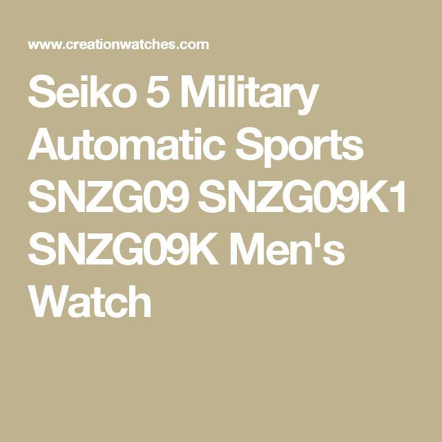 Seiko 5 Military Automatic Sports SNZG09 SNZG09K1 SNZG09K Men's Watch
