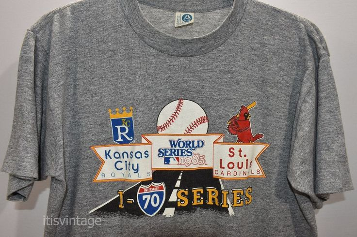 Vintage 1985 Artex Kansas City Royals Cardinals World Series Large T Shirt 1980s | Clothing, Shoes & Accessories, Women's Clothing, T-Shirts | eBay!