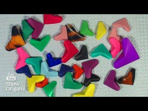 Как сделать маленькое оригами #сердце из бумаги - YouTube