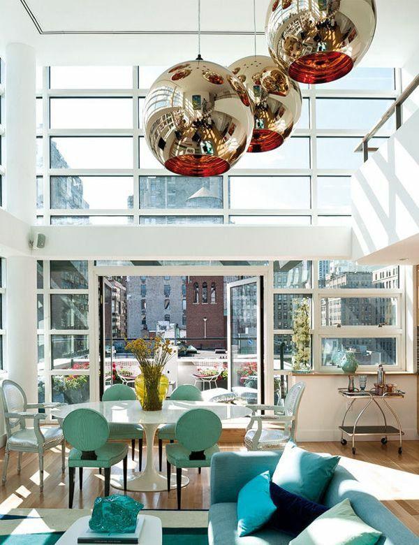dachterrassengestaltung verglasung wohnbereich wohnzimmer möbel