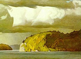 "A.J. Casson ""October Storm Clouds"" 1974 Canadian (The Group Of Seven: Franklin Carmichael, Lawren Harris, A. Y. Jackson, Frank Johnston, Arthur Lismer, J. E. H. MacDonald, Frederick Varley, and A. J. Casson, Edwin Holgate, LeMoine FitzGerald)"
