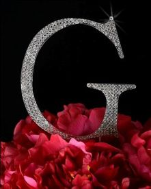 Unik Occasions - Large Silver Unik Occasions Crystal Rhinestone Wedding Cake Topper - Letter G