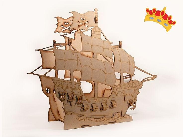 barco pirata candybar en fibrofacil oferta!
