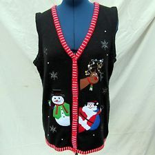 Plus Size Christmas Sweater Vest Ugly 2X 18W-20W Santa Reindeer Snowman in Clothing, Shoes & Accessories, Women's Clothing, Sweaters | eBay