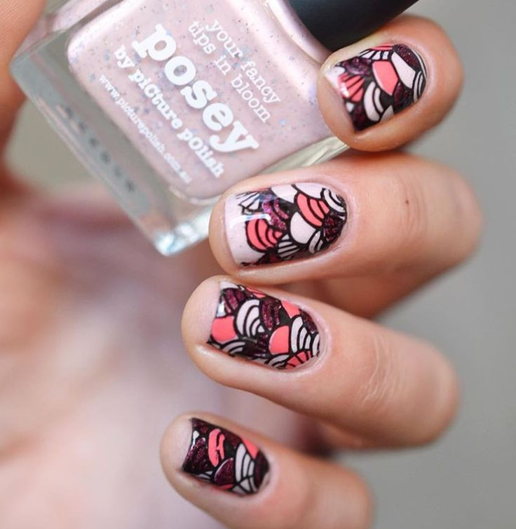 The 152 best Nail Art Ideas - Reverse Stamping images on Pinterest ...