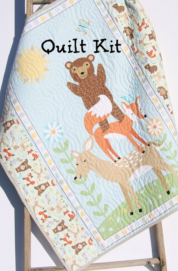 Quilt Kit Flannel Baby Blanket Panel Quick Easy