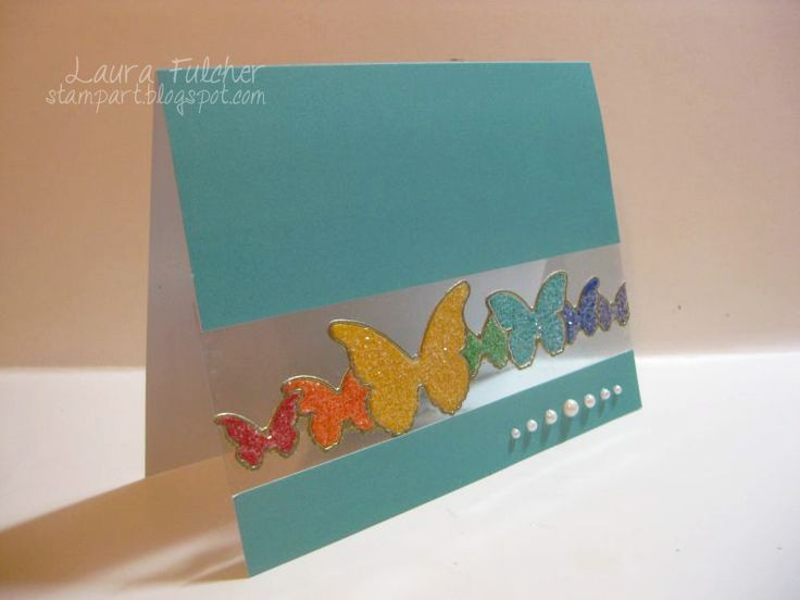 Laura Fulcher created this beautiful card using a Memory Box die--tutorial on her blog:http://davebrethauer.typepad.com/outsidethebox/2014/05/glitter-butterflies.html