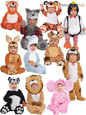 1b846edd2eda Baby Toddler Animal Costume Boy Girl Zoo Jungle Fancy Dress Infant Jumpsuit  Kids