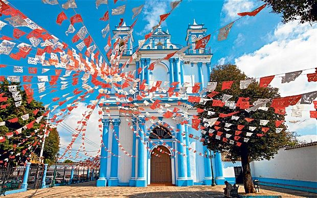 This is beautiful and a perfect Mexico stop for my #ridecolorfully trip. Wouldn't my teal #vespa look amazing here!