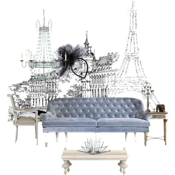 """Parisian Bleu"" by blonde-bedu on Polyvore Tres chic non?https://www.etsy.com/shop/MarielleDeParis"