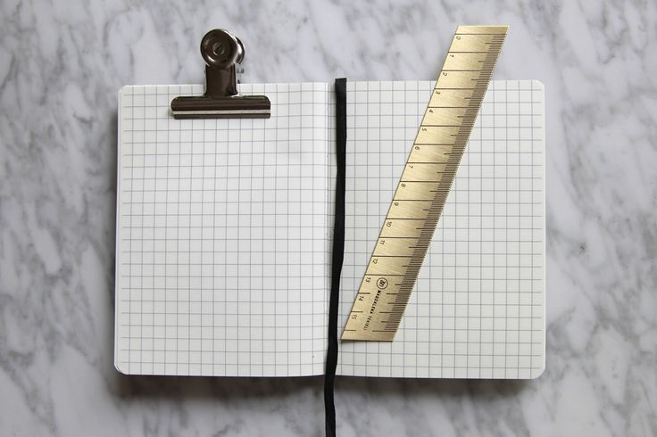 Brass Ruler - Paper Love Brass Ruler Design by Magdalena Tekieli