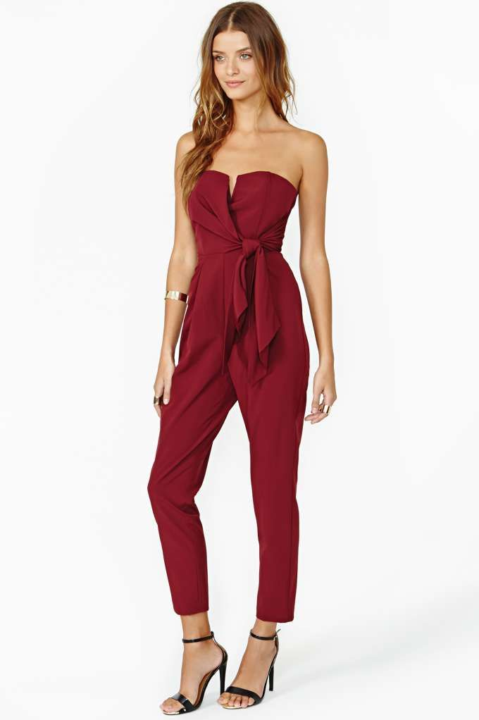 80269b05d5a dear gorgeous holiday party jumpsuit ... i love you. Sasha Jumpsuit - Wine   nastygal