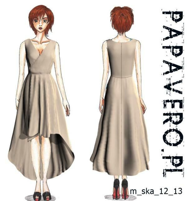 Susanna szyje: Sukienka bardzo asymetryczna - Papavero